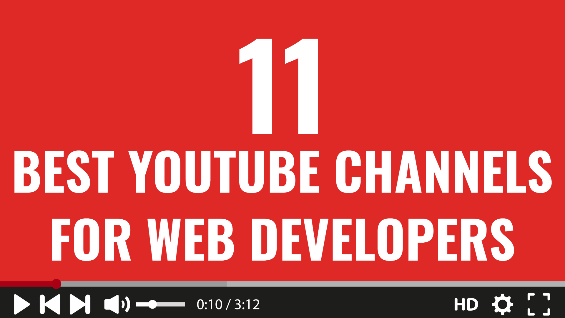 11 Best YouTube Channels For Web Developers - Invent With Code